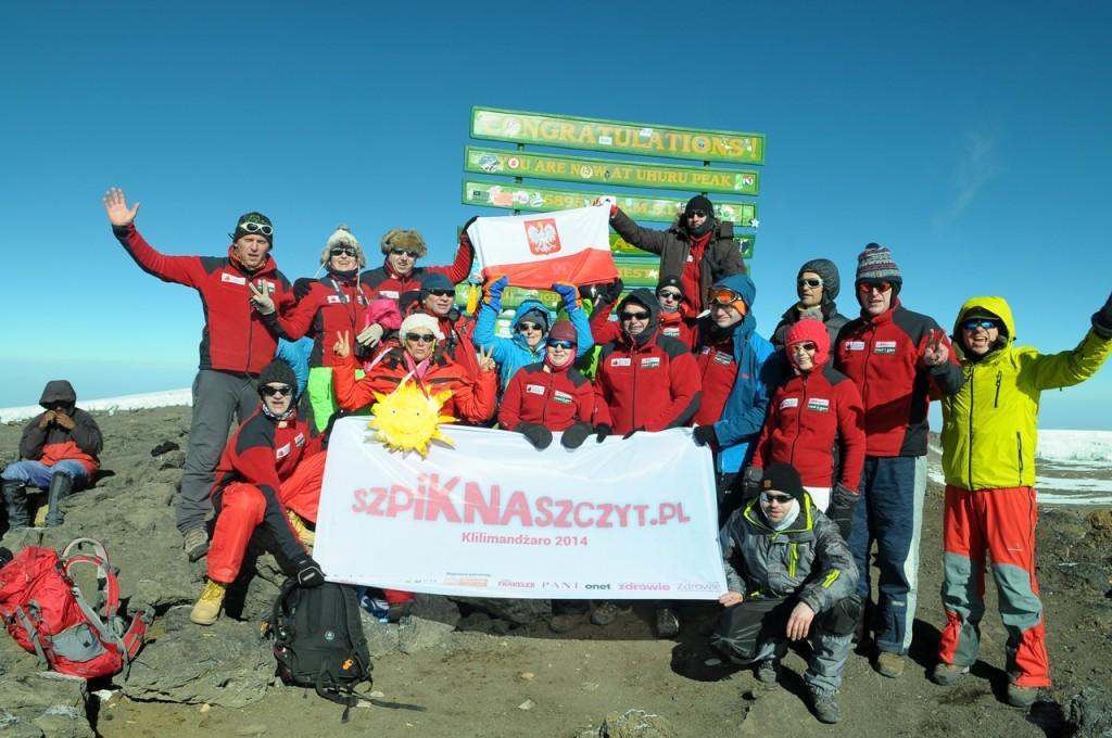 Dawcy i biorcy szpiku z rejestru NZOZ Medigen na szczycie Kilimandżaro