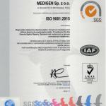 Certyfikat ISO Medigen wersja polska